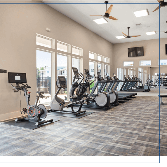 state-of-the-art fitness center at center west apartments in midlothian va