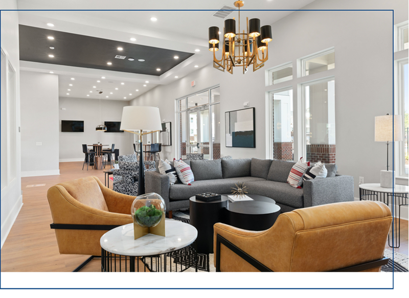 community lounge for residents of center west apartments in midlothian VA