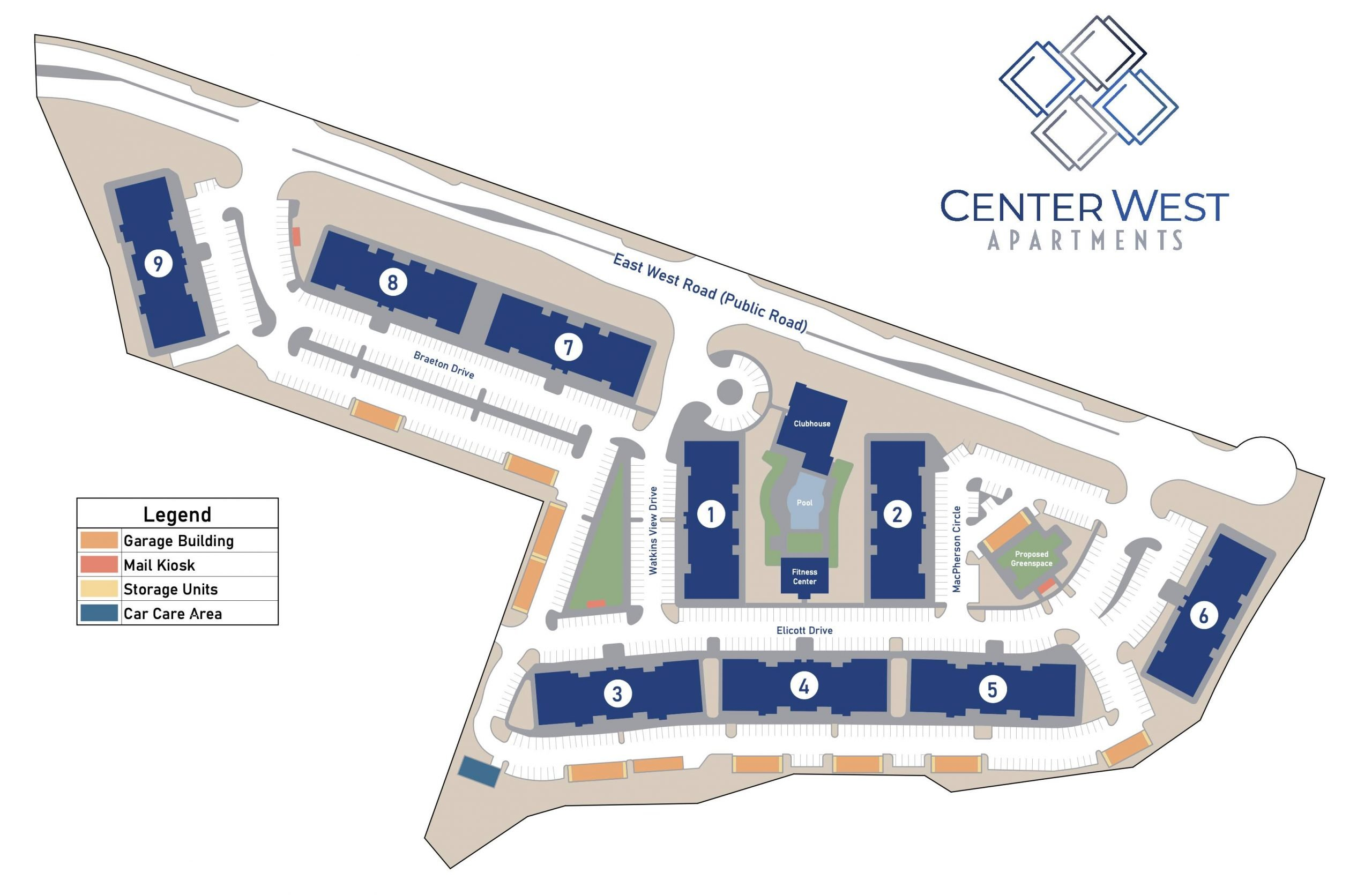 Map of Center West Apartments in Midlothian VA
